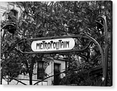 Metropolitain - Bw Acrylic Print by Carrie Warlaumont