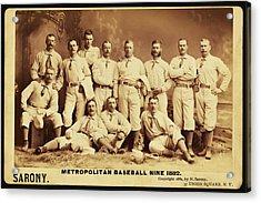 Metropolitan Baseball Nine Team In 1882 Acrylic Print by Bill Cannon