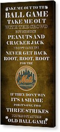 Mets Peanuts And Cracker Jack  Acrylic Print