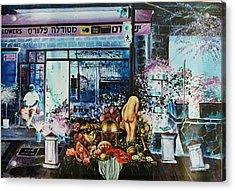 Metudela Flowers Acrylic Print by Nekoda  Singer