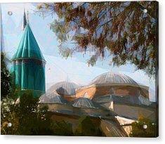 Mevlana Rumi Mosque In Konya Turkey Acrylic Print by Celestial Images