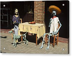 Mexican Antique Family Acrylic Print by Roderick Bley