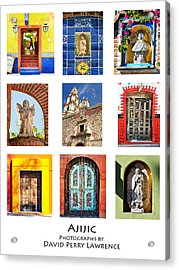 Acrylic Print featuring the photograph Colorful Mexican Doors, Ajijic Mexico - Travel Photography By David Perry Lawrence by David Perry Lawrence