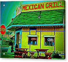 Mexican Grill Acrylic Print by Chris Berry