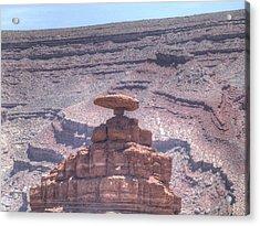 Mexican Hat Rock Acrylic Print by Sanda Kateley