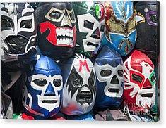 Mexican Head Masks Acrylic Print