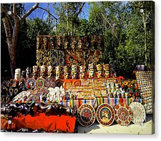 Acrylic Print featuring the photograph Mexican Market  by Sarah Mullin