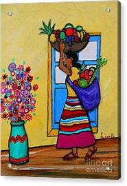Mexican Street Vendor Acrylic Print