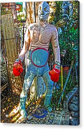 Mexican Wrestler Acrylic Print by Gregory Dyer
