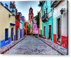 Mexico, Guanajuato, Colorful Back Alley Acrylic Print