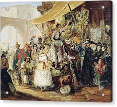 Mexico Market, 1833 Acrylic Print by Granger