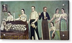 Mexico Mourning Family Acrylic Print by Granger