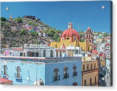 Mexico, Rooftop View Of Guanajuato Acrylic Print by Rob Tilley