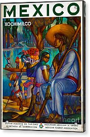 Mexico Travel Poster Acrylic Print