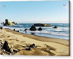 Meyers Creek Beach Oregon Acrylic Print by Rafael Escalios