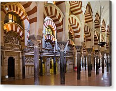 Mezquita Prayer Hall In Cordoba Acrylic Print by Artur Bogacki