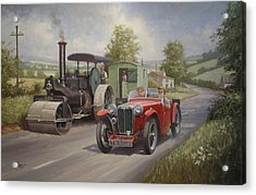 Mg Sports Car. Acrylic Print by Mike  Jeffries