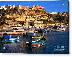 Mgarr Harbor Gozo Acrylic Print by Thomas R Fletcher