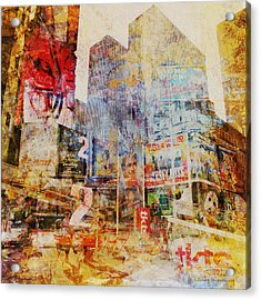 Mgl - City Collage - New York 02 Acrylic Print by Joost Hogervorst