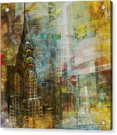 Mgl - City Collage - New York 04 Acrylic Print by Joost Hogervorst