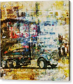 Mgl - City Collage - New York 10 Acrylic Print by Joost Hogervorst