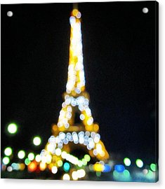 #mgmarts #paris #france #europe #eiffel Acrylic Print by Marianna Mills