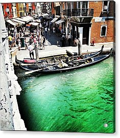#mgmarts #venice #italy #europe #canal Acrylic Print by Marianna Mills