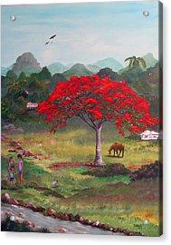 Mi Rinconcito Acrylic Print by Gloria E Barreto-Rodriguez