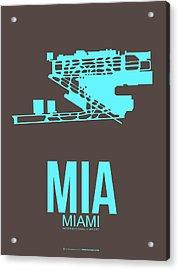 Mia Miami Airport Poster 2 Acrylic Print by Naxart Studio
