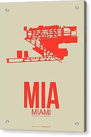 Mia Miami Airport Poster 3 Acrylic Print