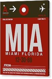 Mia Miami Airport Poster 4 Acrylic Print by Naxart Studio
