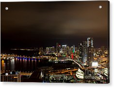 Miami After Dark Acrylic Print by Rene Triay Photography