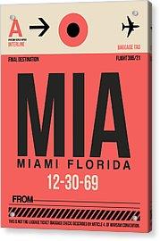 Miami Airport Poster 3 Acrylic Print