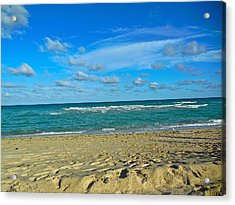 Miami Beach Acrylic Print by Joan Reese