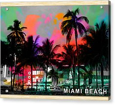 Miami Beach Acrylic Print by Marvin Blaine