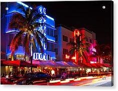 Miami Beach Ocean Drive Acrylic Print