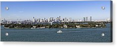 Acrylic Print featuring the photograph Miami Daytime Panorama by Gary Dean Mercer Clark