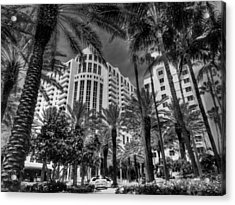 Miami - Deco District 003 Bw Acrylic Print