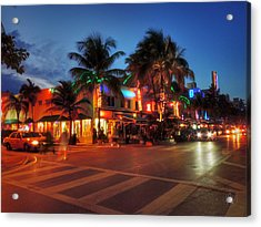 Miami - Deco District 016 Acrylic Print by Lance Vaughn