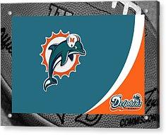 Miami Dolphins Acrylic Print by Joe Hamilton