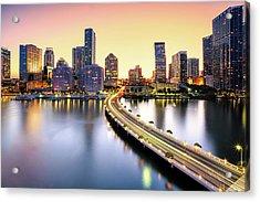 Miami Acrylic Print by Eddie Lluisma