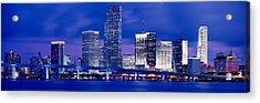 Miami, Florida, Usa Acrylic Print by Panoramic Images