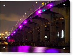 Miami Macarthur Causeway Bridge Acrylic Print
