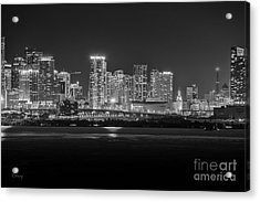 Miami On A Clear Summer Night Acrylic Print
