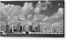 Miami Acrylic Print by Raymond Earley