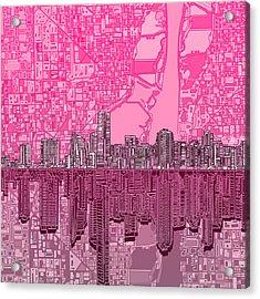 Miami Skyline Abstract 4 Acrylic Print