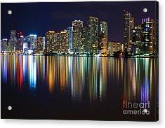 Miami Skyline IIi High Res Acrylic Print by Rene Triay Photography