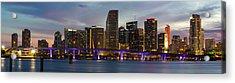 Miami Skyline Acrylic Print