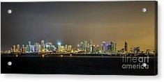 Miami Skyline View II Acrylic Print