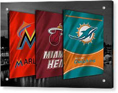 Miami Sports Teams Acrylic Print by Joe Hamilton